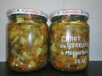 """Салат из Цуккини с морковкой """"супер вкусный"""""""